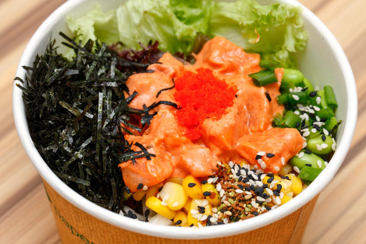 Salmon Sriracha Poke Bowl