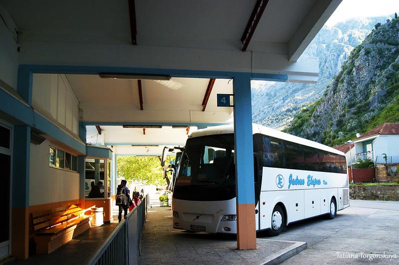На автобусной станции в Которе
