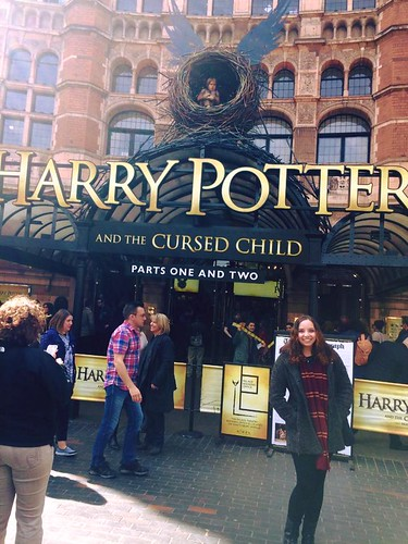 OUTSIDE THE THEATRE FOR HARRY POTTER AND THE CURSED CHILD