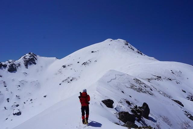 雪の三ノ沢岳