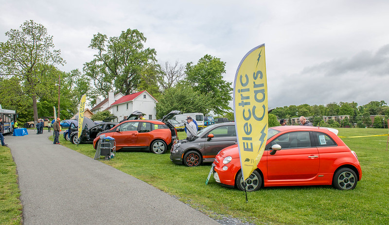 Electric vehicle and car show