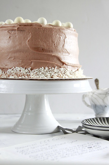 Brooklyn Egg Cream Cake