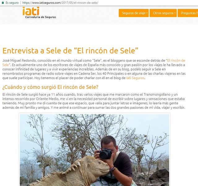 Entrevista en IATI