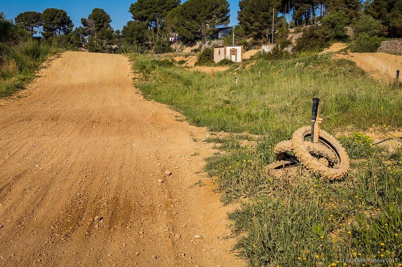 Circuito de motocorss en el Mas Sant Antoni