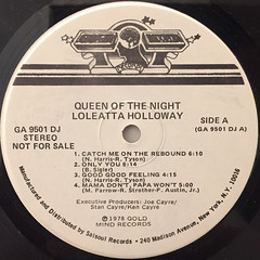 LOLEATTA HOLLOWAY:QUEEN OF THE NIGHT(LABEL SIDE-A)
