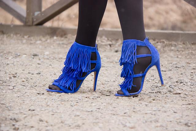 Mokkanahkatakki Mango sähkönsininen Esprit Kynähame Steve Madden Korkokengät Heels highheels shoes blog fashion style tyyli muoti blogi bloggaaja