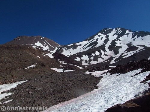 Mt. Shasta (R) and Shastina (L) from Hidden Valley, Shasta-Trinity National Forest, California