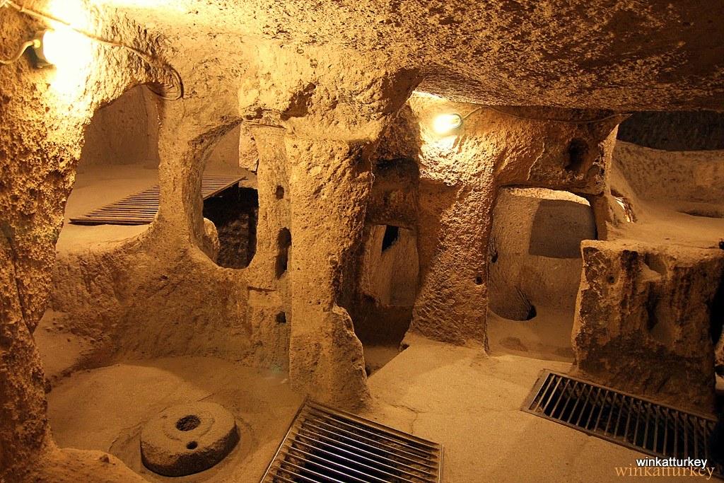 Από την υπόγεια πόλη Kaymakli
