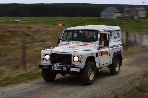Clive Allford - Tom Thompson, Land Rover Wolf XD, MSA British Rally Championship, Carlisle 2017