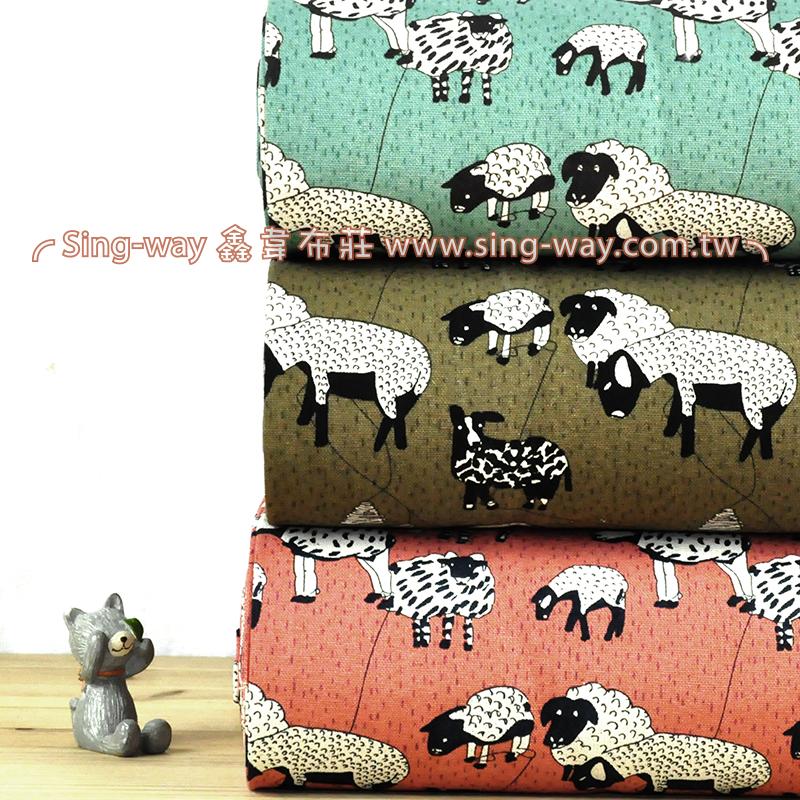 草食動物  可愛動物 手工藝DIy拼布布料 CF550577
