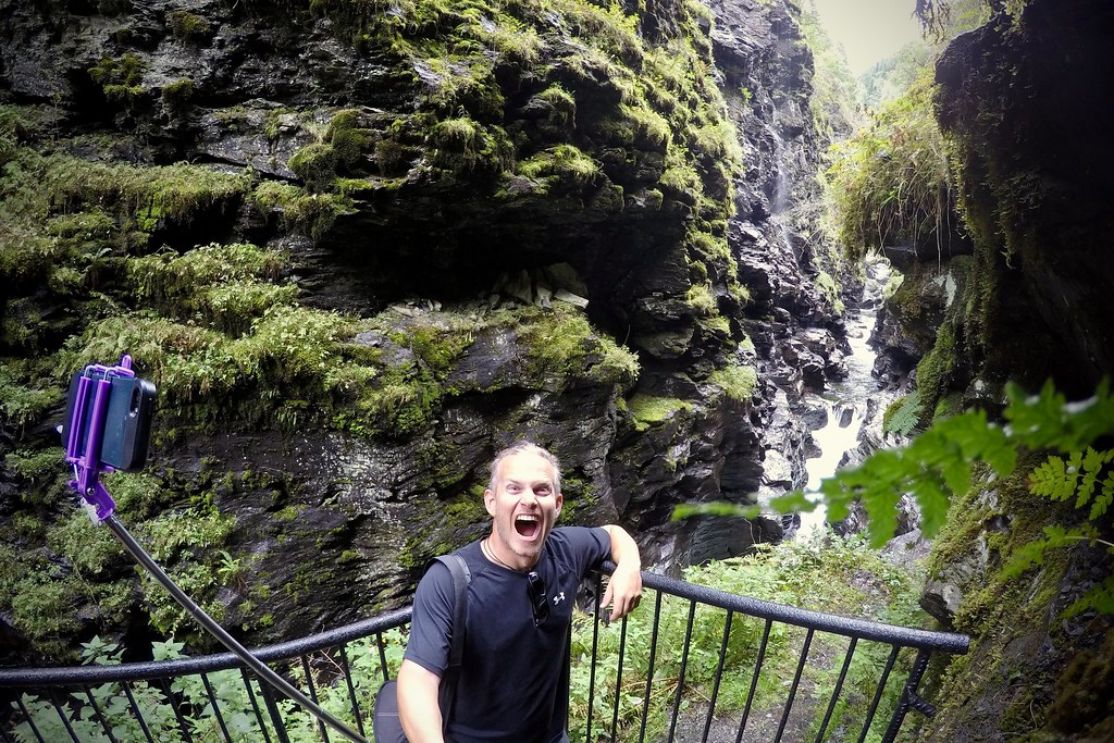 Jeff Takes a Selfie in Bordalsgjelet Gorge