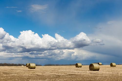 Clouds & Hay Bales