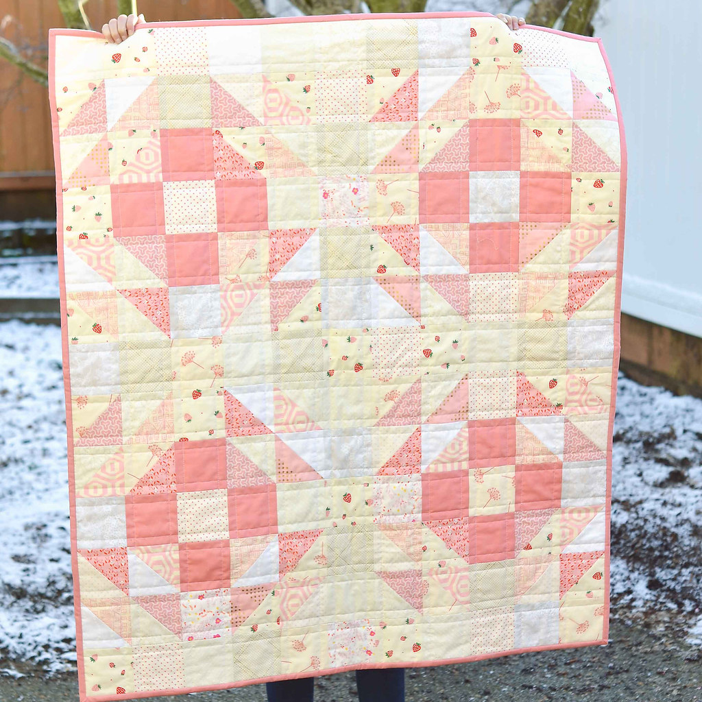 Pretty Pink Baby Girl Quilt | Kitchen Table Quilting