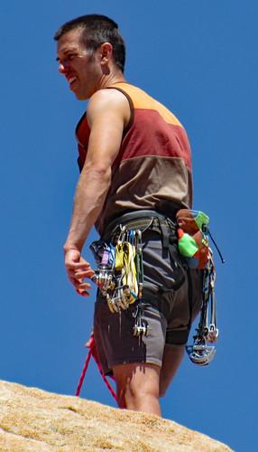 Rock Climber In Wonder Valley (0271)
