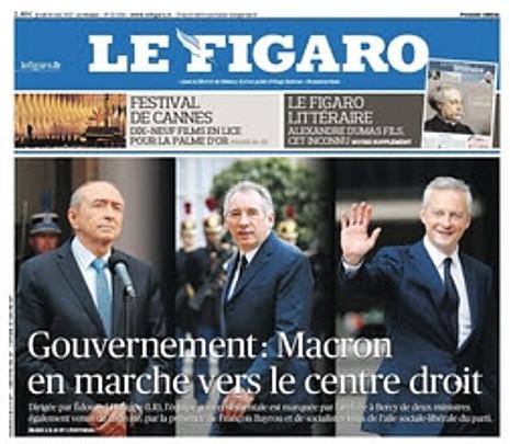 17e17 LFigaro Macron En marcha hacia el centro derecha