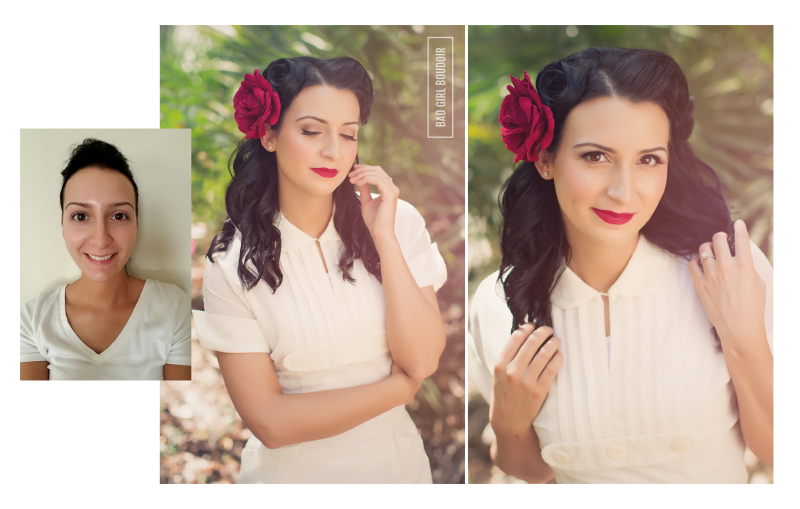 Pinup Girl Before and After Makeover Photoshoot | Florida Boudoir