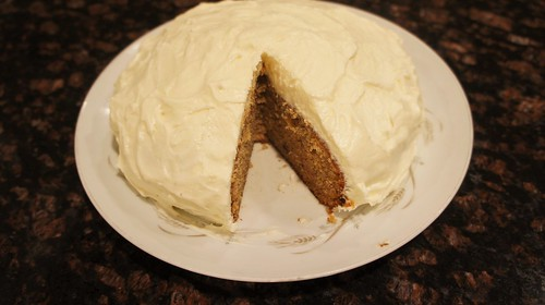 At Home: Banana Cake with Cream Cheese Frosting