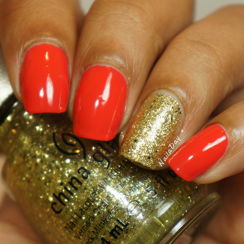 NailaDay: Barry M Coral and China Glaze Blonde Bombshell