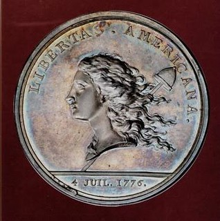 Libertas Americana silver medal from the Cardinal collection