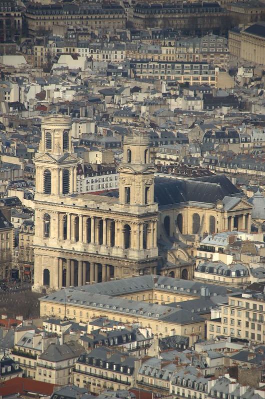 St. Sulpice vista da Torre Montparnasse