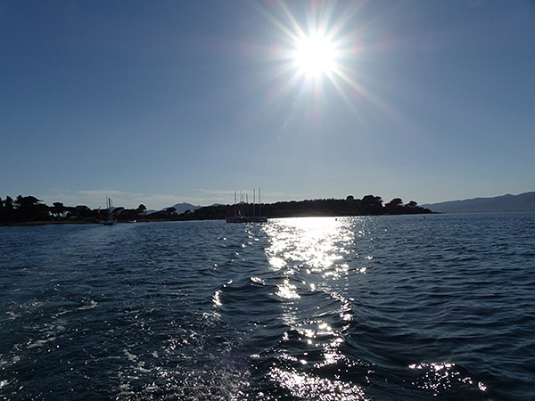 fin de journée sur les îles