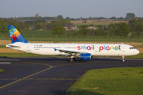 SP-HAW Small Planet Airlines Poland Airbus A321-200, Maastricht Aachen Airport - EHBK/MST