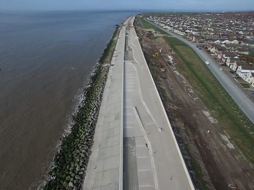 First complete section of Rossall sea defences