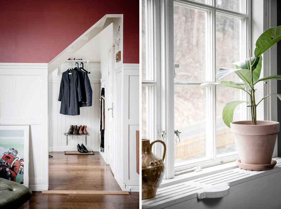 Swedish House With A Pop Of Red