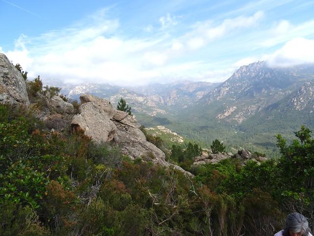 La vallée amont du Cavu depuis le sentier de montée de Ranuchjaghja