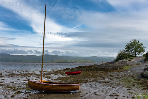 resting boats | borth y gest | north wales | by John FotoHouse