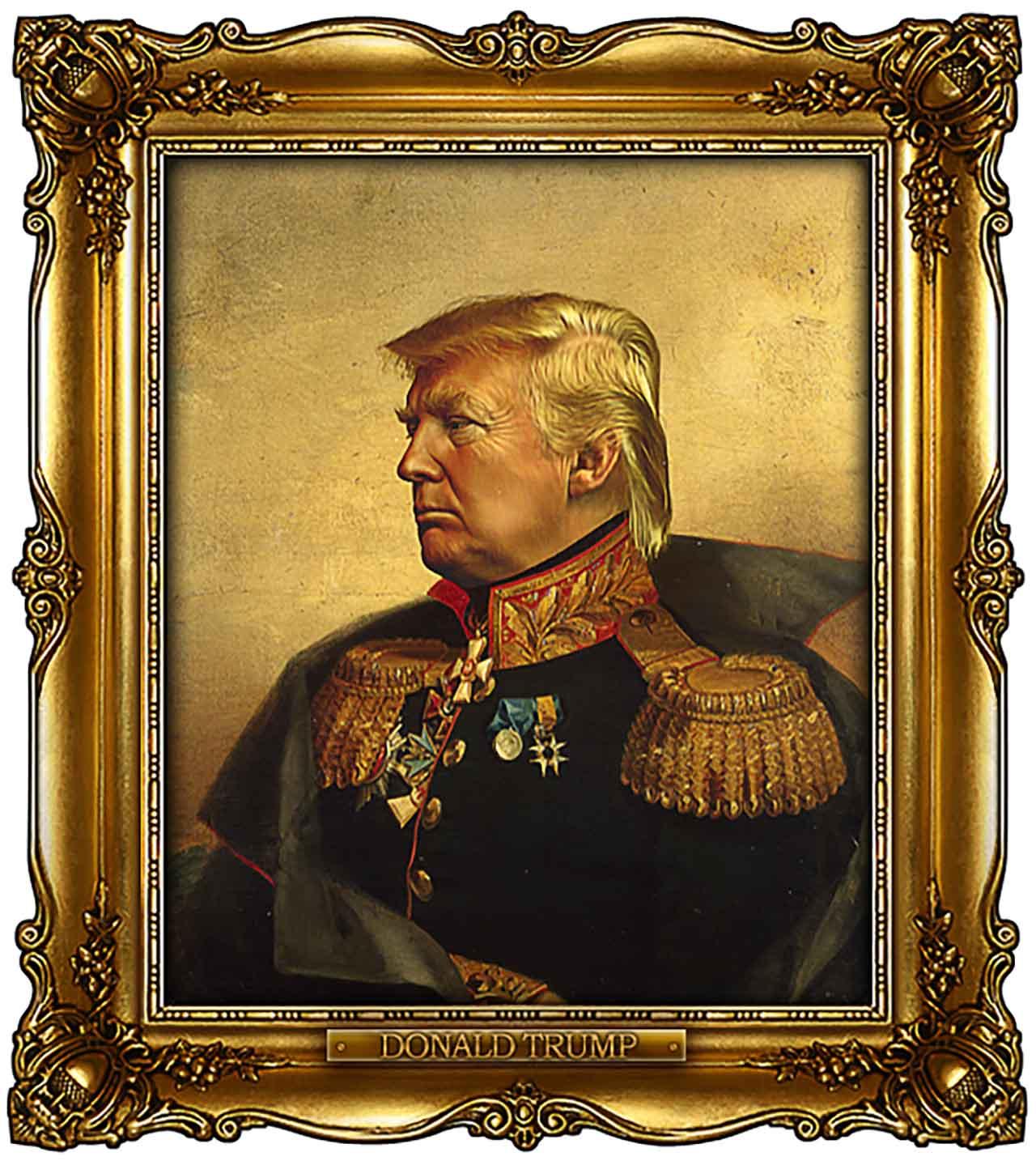 Artist Turns Famous Actors Into Russian Generals - Donald Trump