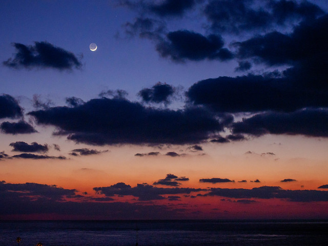 Twilight in Tsunoshima, Yamaguchi, Japan