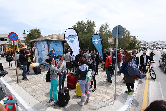 To περίπτερο του Naxos Trail Race 2017, στην είσοδο του λιμανιού της Νάξου!
