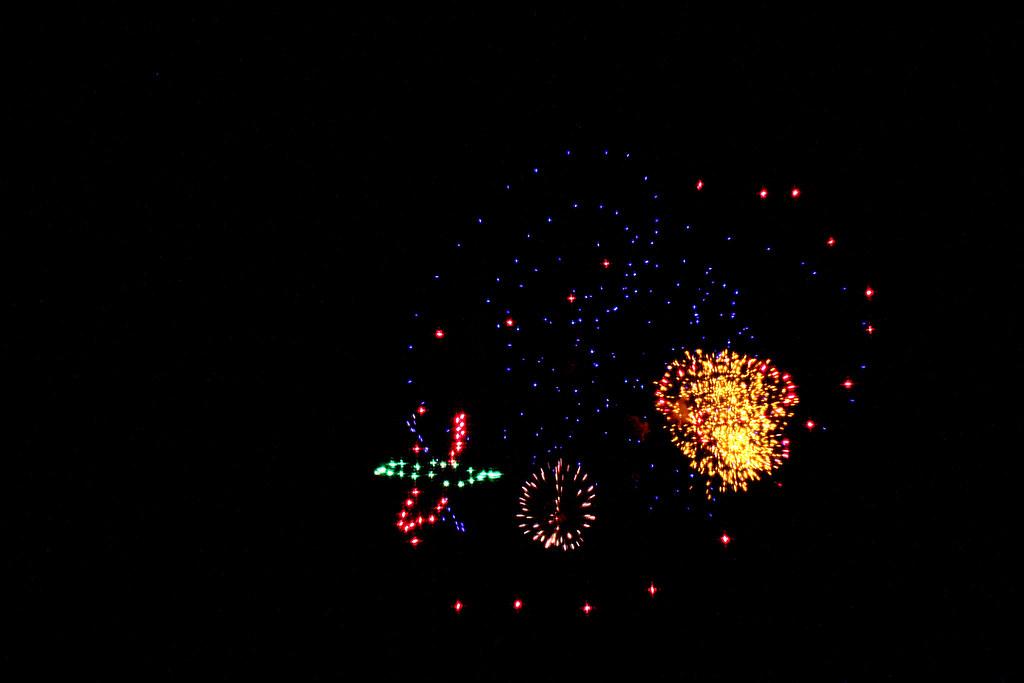 fuegos artificiales por las fiestas del Cristo de la Salud segun mi punto de vista