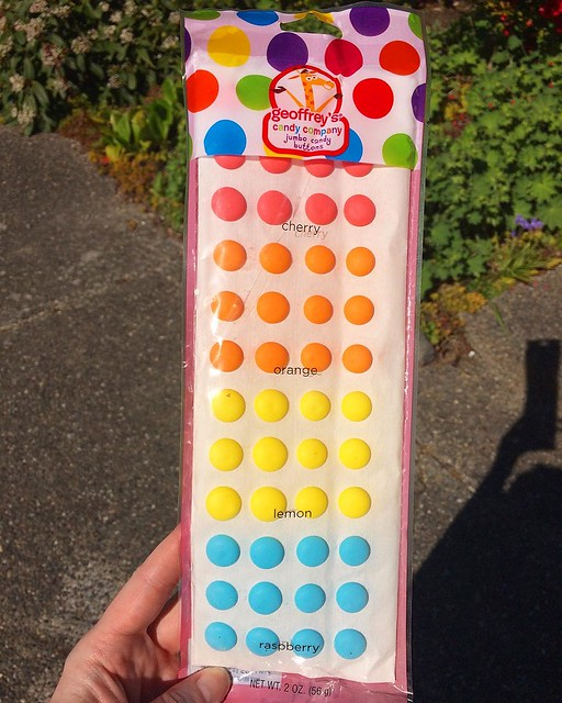 Jumbo candy buttons! (verdict: not as tasty as original)