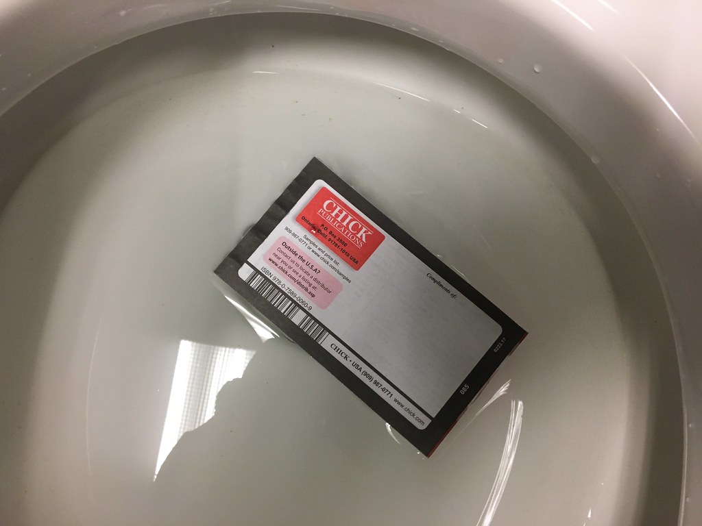Jack Chick Religious Cartoon Tract in Toilet | Steven Depolo | Flickr