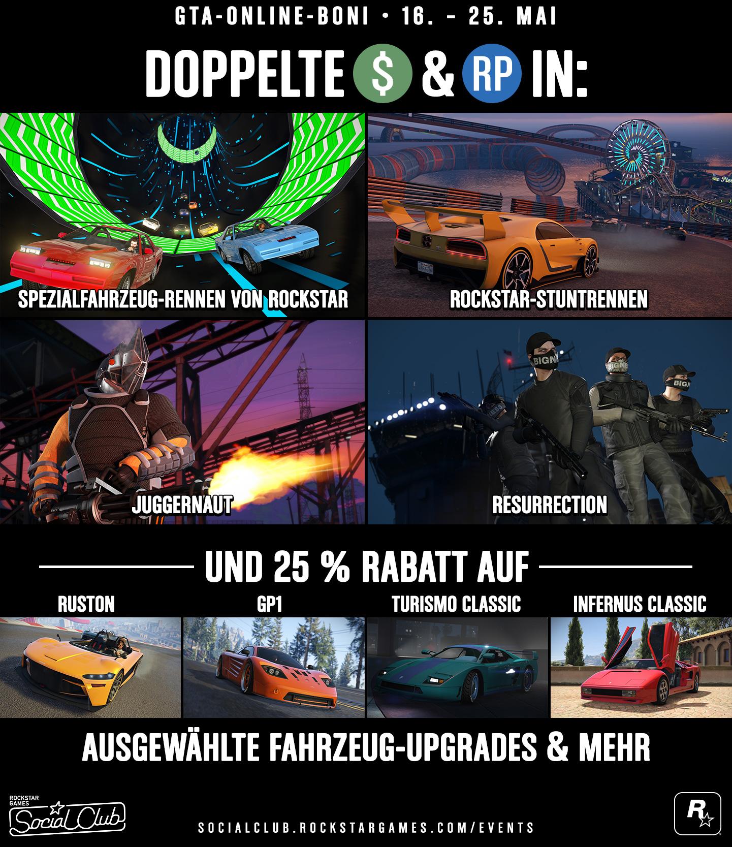 GTA Online Boni 16. - 25. Mai