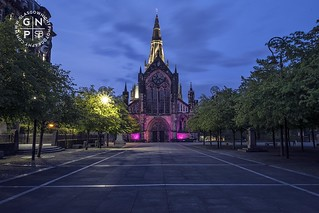 Glasgow Cathedral lit up purple tonight for the Stroke | by SkintoBalinto
