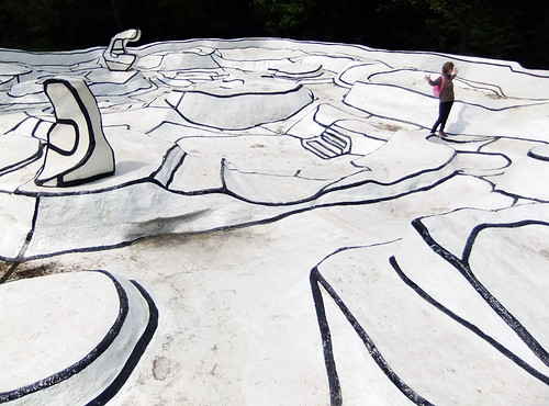 Jean Dubuffet's sculpture in the Kroller Muller Sculpture Garden near Utrecht in Holland