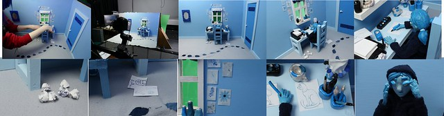 Animation Blue Bedroom Scene 1