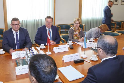 Uzbekistānas senāta priekšsēdētāja tikšanās ar Ministru prezidentu