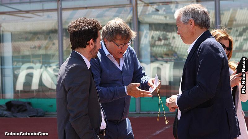 L'ad Lo Monaco e il presidente Franco