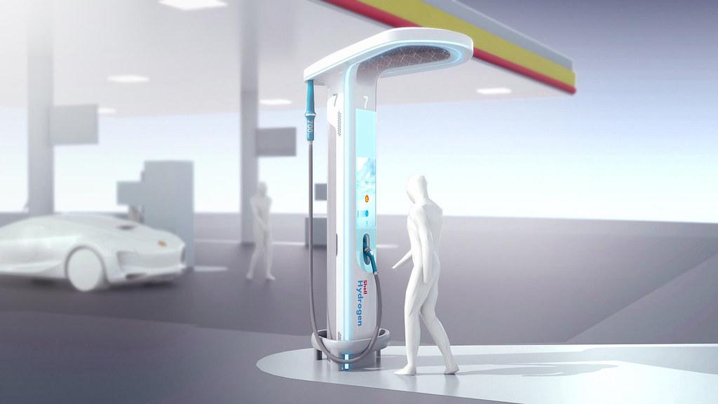 BMW-Shell designed hydrogen fuelling station