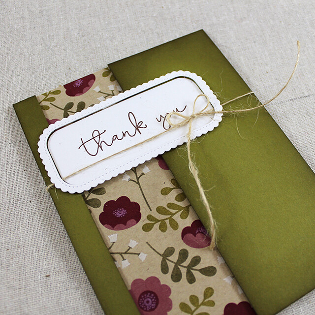 Ivy & Bloom Thank You Card Flat