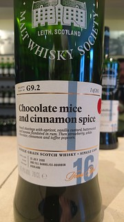 SMWS G9.2 - Chocolate mice and cinnamon spice