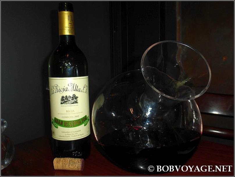 La Rioja Alta Gran Reserva 904 2005 ב- טפאו