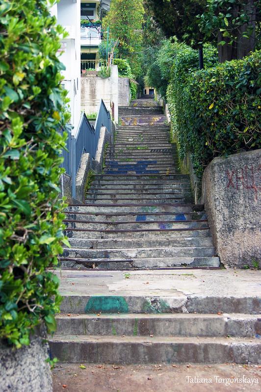 Лестница с набережной Херцег Нови на улицу Негошева
