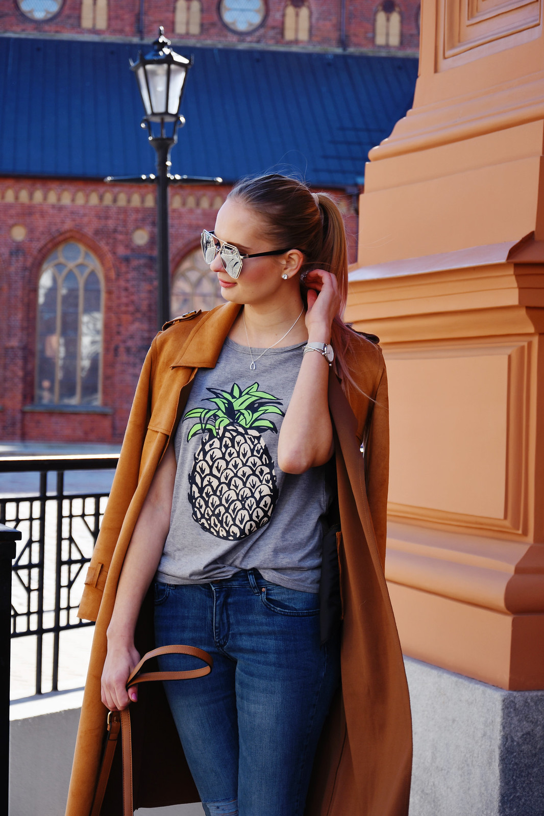 Pineapple print shirt from Ebay