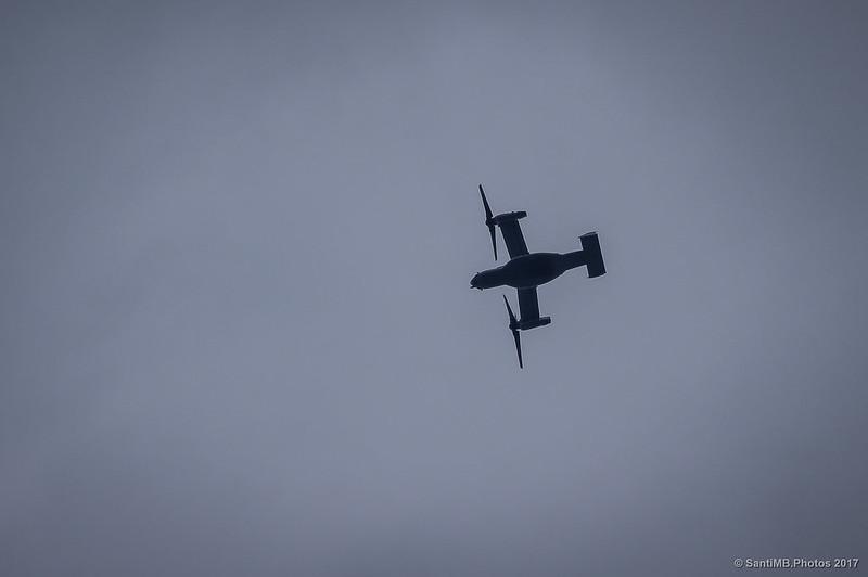 Bell-Boeing V-22 Osprey sobrevolando el Montsant