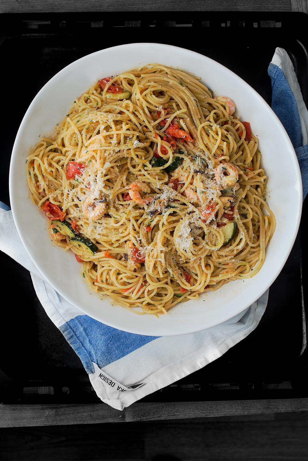 Spaghetti frutti di mare 01